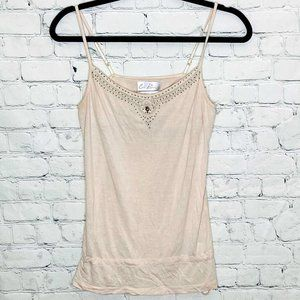 FWP of $25+ Costa Blanca beaded tank with cinching tie up